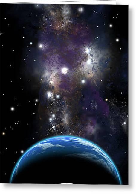 Sister Moon Nebula Greeting Card