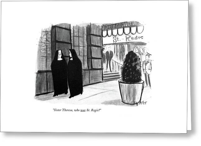 Sister Theresa Greeting Card by Warren Miller