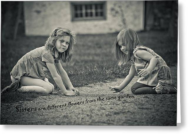 Sisters Are Different Flowers Greeting Card
