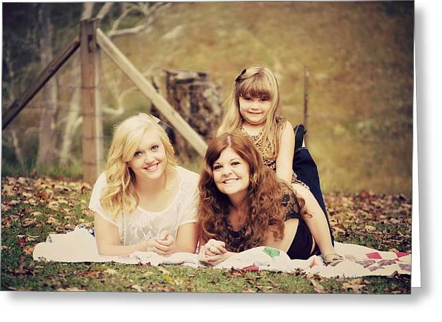 Sisters Making Memories Greeting Card