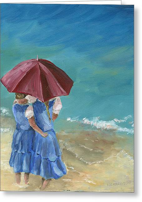 Sisters Greeting Card by Susan Richardson