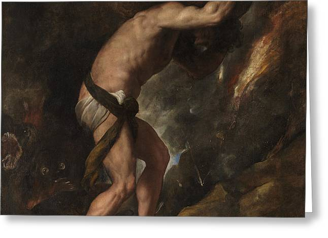 Sisyphus Greeting Card