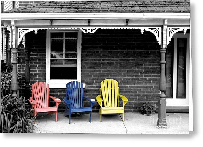 Sit And Relax Greeting Card by Michael Swanson