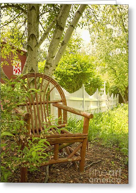 Sit For A While Greeting Card by Margie Hurwich
