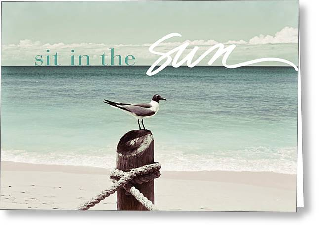 Sit In The Sun Bird Greeting Card by Susan Bryant