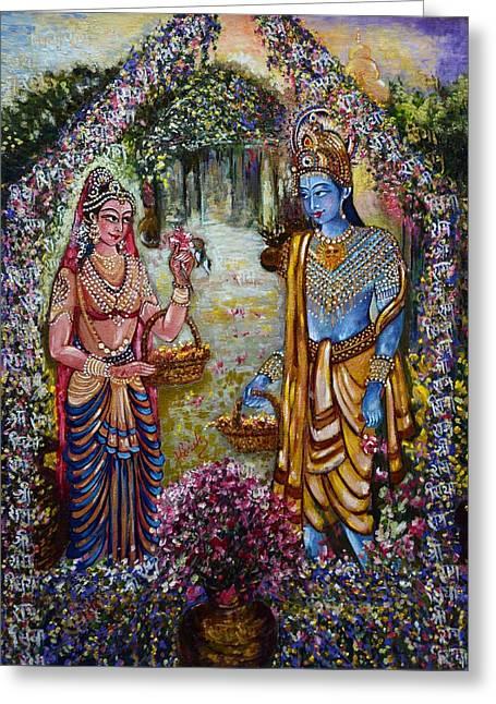 Sita Ram Greeting Card by Harsh Malik