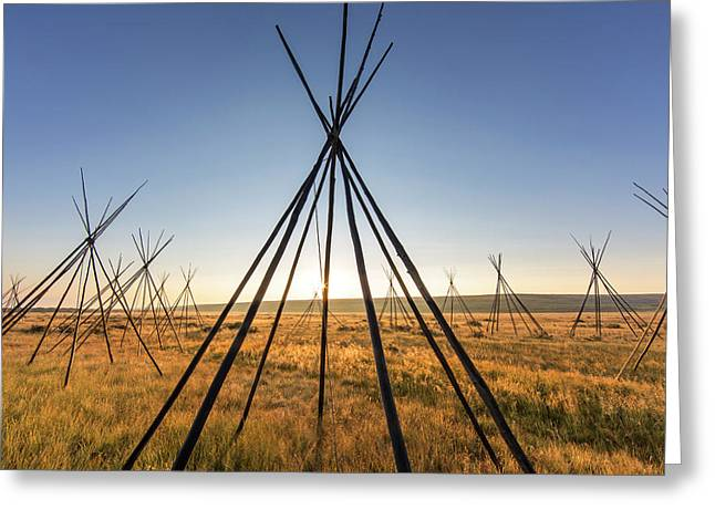 Site Of Chief Joseph Of The Nez Perce Greeting Card