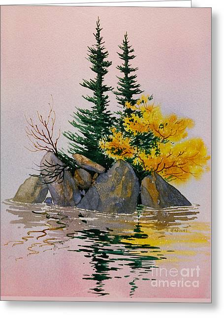 Greeting Card featuring the painting Sitka Isle by Teresa Ascone