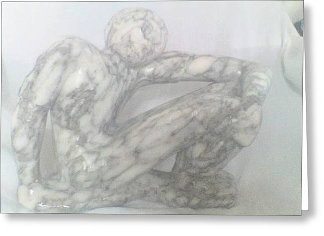 Sitting And Waitng Greeting Card by Peter Johnson