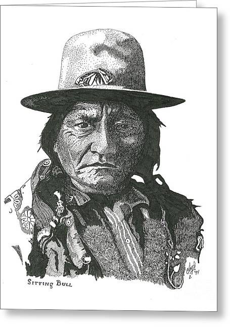 Sitting Bull Greeting Card by Clayton Cannaday