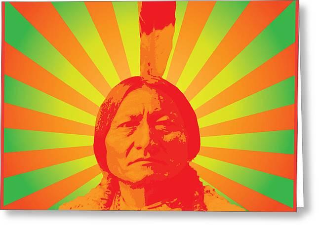 Sitting Bull Greeting Card by Gary Grayson