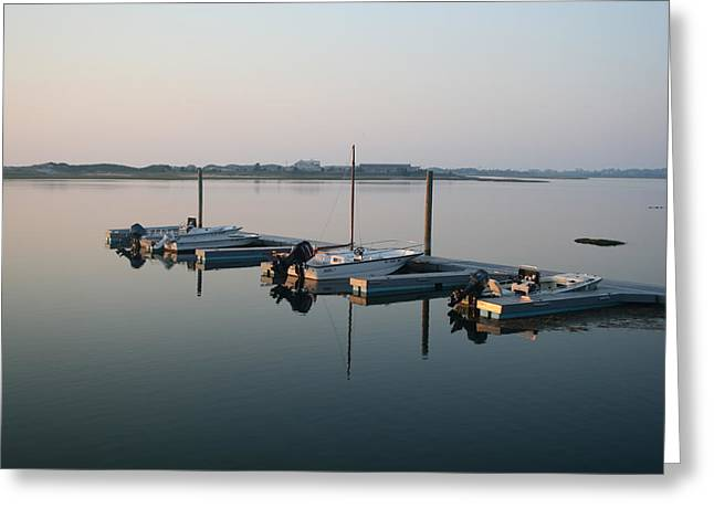 Sitting On The Dock Of The Bay Greeting Card by Mark Beliveau