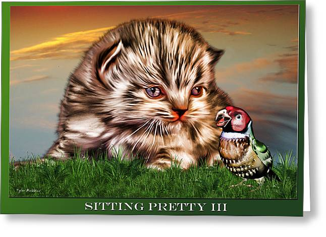 Greeting Card featuring the painting Sitting Pretty 3 by Tyler Robbins