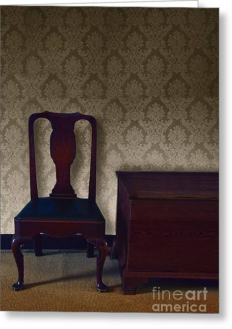 Sitting Room At Dusk Greeting Card by Margie Hurwich