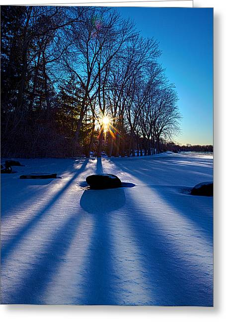 Sitting Stones Greeting Card by Phil Koch