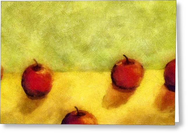 Six Apples Greeting Card