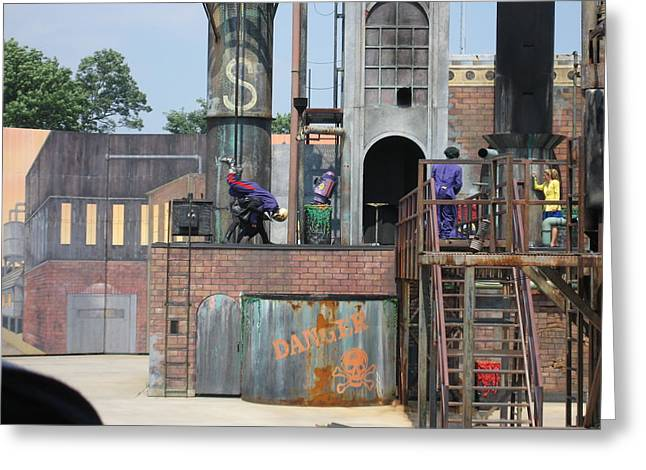 Six Flags America - 12127 Greeting Card by DC Photographer