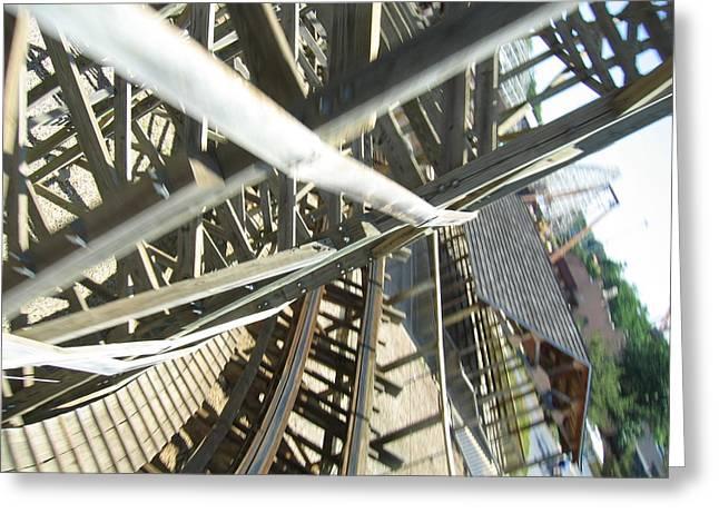 Six Flags America - Roar Roller Coaster - 12127 Greeting Card