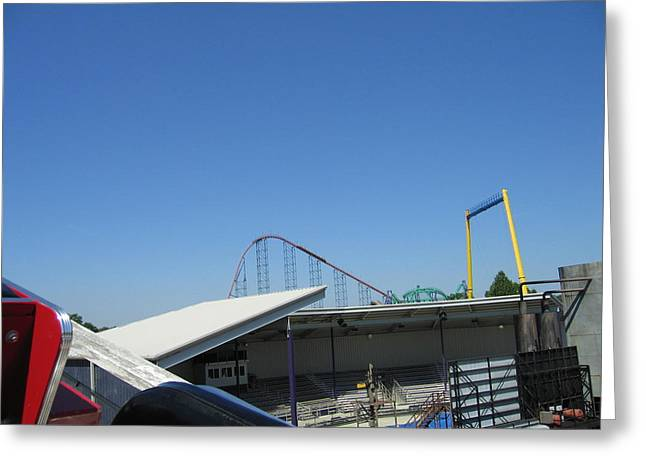 Six Flags America - Wild One Roller Coaster - 12122 Greeting Card