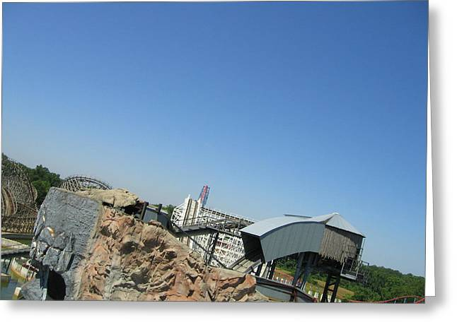 Six Flags America - Wild One Roller Coaster - 12125 Greeting Card by DC Photographer