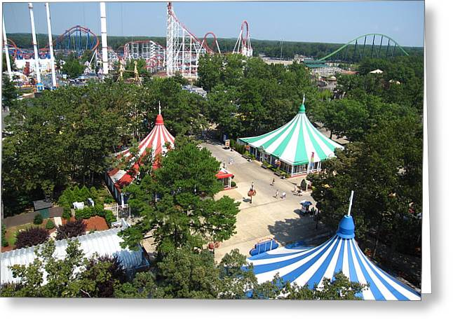Six Flags Great Adventure - 121210 Greeting Card by DC Photographer