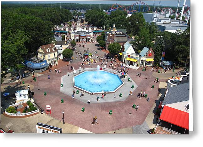 Six Flags Great Adventure - 12126 Greeting Card by DC Photographer