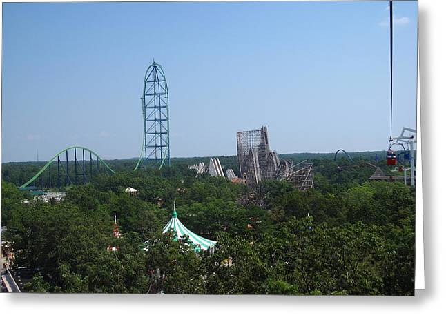 Six Flags Great Adventure - 12128 Greeting Card