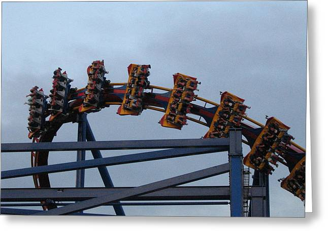 Six Flags Great Adventure - Medusa Roller Coaster - 12127 Greeting Card