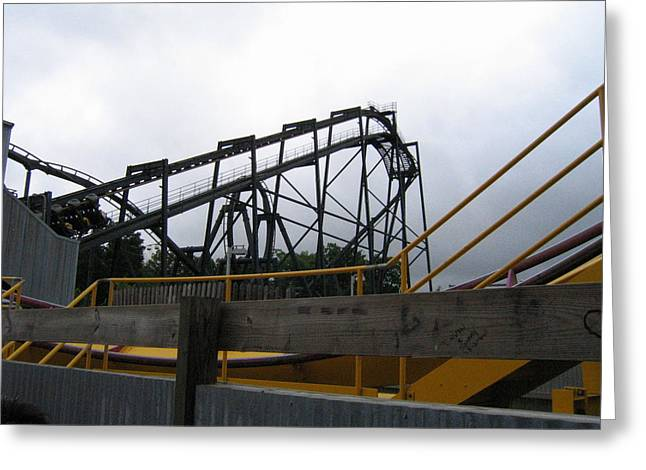 Six Flags Great Adventure - Nitro Roller Coaster - 12122 Greeting Card by DC Photographer
