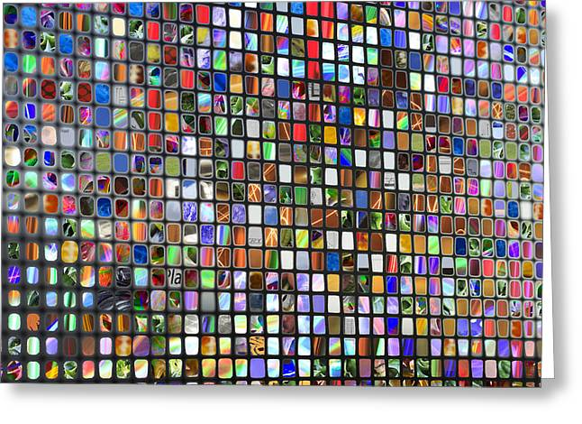 Six Hundred Rectangles Greeting Card by Don Gradner