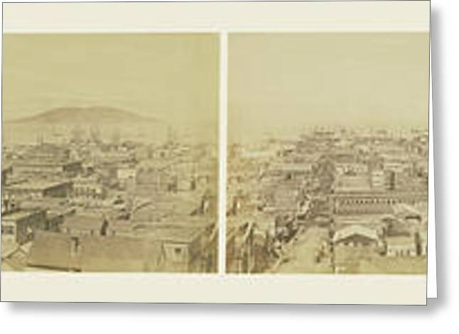 Six-part Panorama Of San Francisco From San Francisco Album Greeting Card by Litz Collection