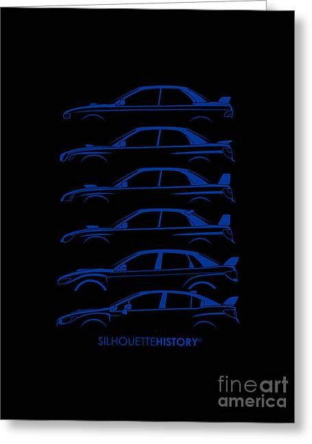 Six Stars Silhouettehistory Greeting Card by Gabor Vida