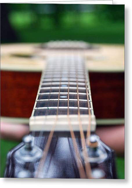 Six String Music Greeting Card