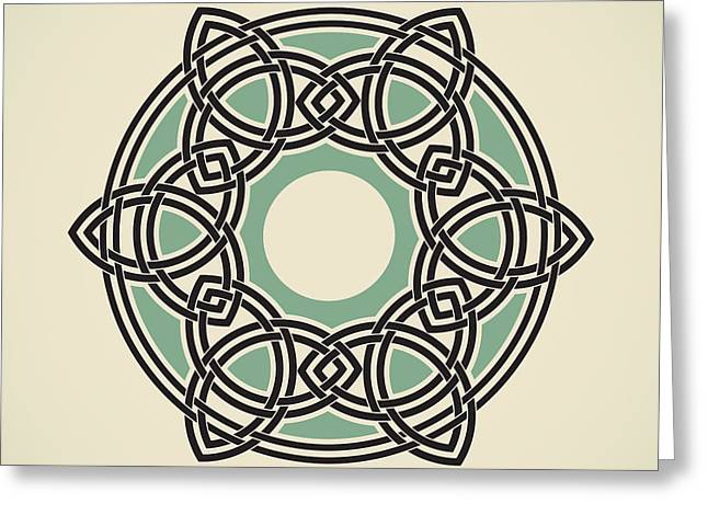 Six Triquetras Mandala Greeting Card by Igor Kislev