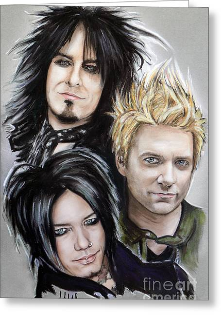 Sixx Am Greeting Card by Melanie D