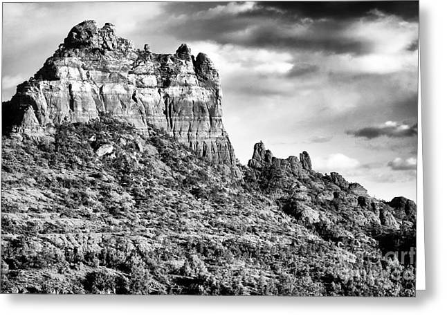 Sizes In Sedona Greeting Card by John Rizzuto