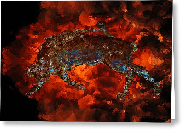 Sizzle Greeting Card by Stuart Turnbull