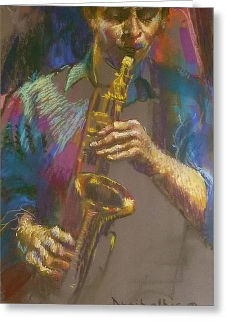 Sizzling Sax Greeting Card