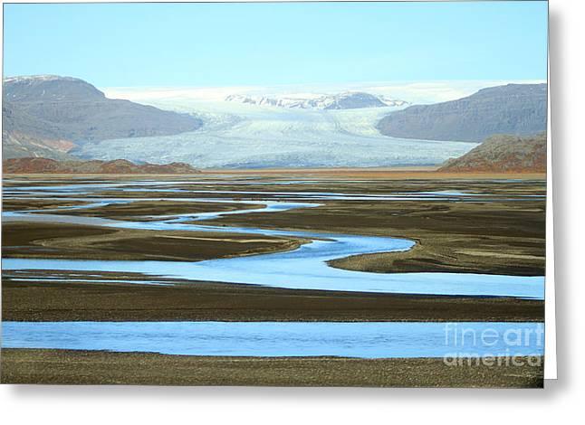 Skaftafell Glacier Greeting Card by Paula Guttilla