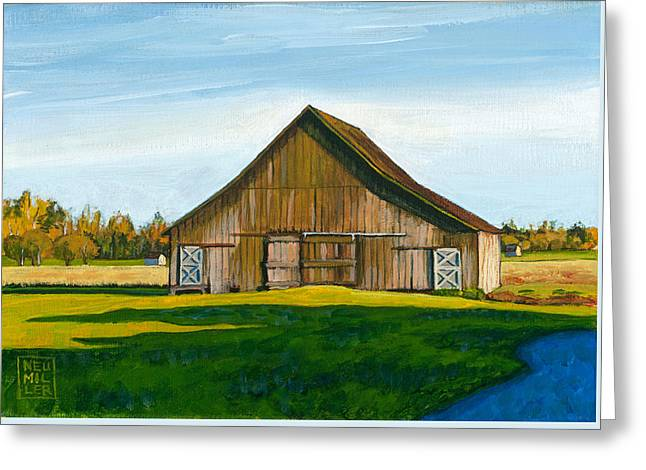 Skagit Valley Barn #3 Greeting Card by Stacey Neumiller