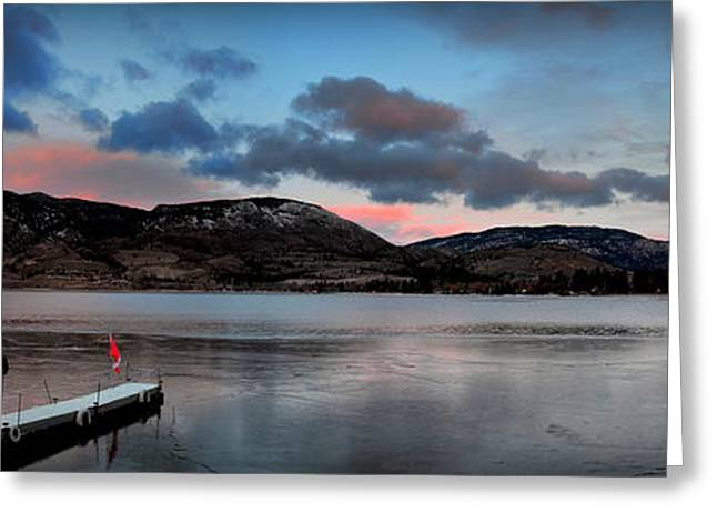 Skaha Lake Panorama 02-19-2014 Greeting Card