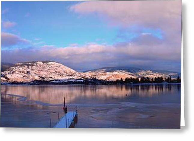 Skaha Lake Panorama 2/5/2014  Greeting Card