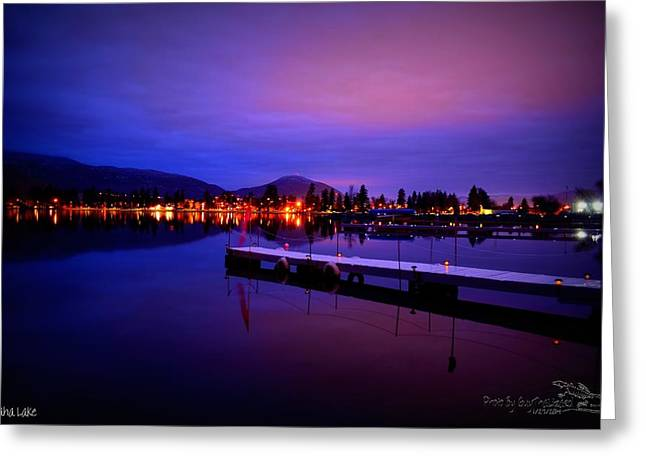 Skaha Lake2 1-27-2014  Greeting Card