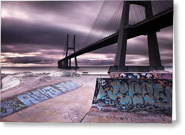 Skate Park Greeting Card by Jorge Maia