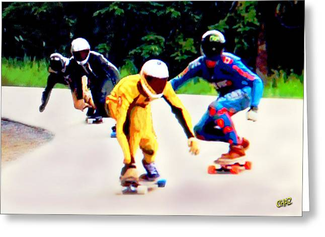 Skateboard Racers Greeting Card