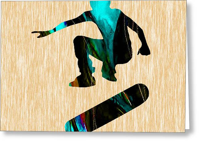 Skateboarder Art Greeting Card by Marvin Blaine