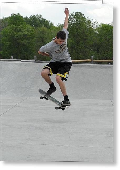 Skateboarding 1 Greeting Card by Joyce StJames