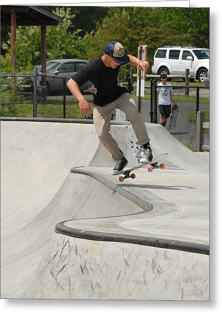 Skateboarding 12 Greeting Card by Joyce StJames