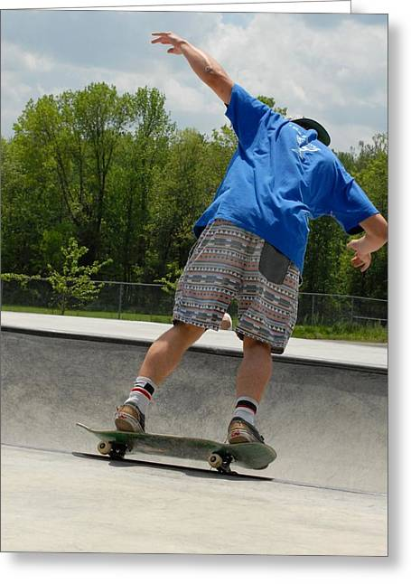 Skateboarding 15 Greeting Card by Joyce StJames