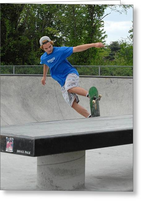 Skateboarding 2 Greeting Card by Joyce StJames